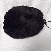 SALE Vintage Fur Muff Satin Lined Ladies