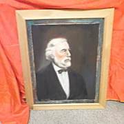 SALE Oil on Canvas ` Robert E. Lee Portrait~ R. Broderick  ca:1957