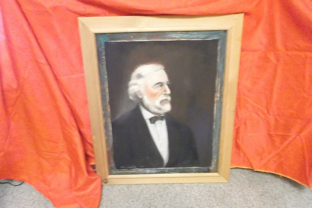 Oil on Canvas ` Robert E. Lee Portrait~ R. Broderick  ca:1957