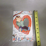 Vintage Paper Valentines Assortment 1940's - 1950's era