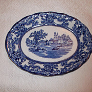 "SALE Flow Blue ""Togo"" 12""  Platter J. Winkle & Co. Colonial Pottery 1890-1925 S"