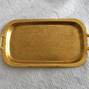 "SALE Pickard 2 Handled Tray 22K Gold Embellished Floral Pattern 11.50"" x 6.25"""