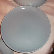 "Russell Wright Iroquois Casual China Ice Blue 10 ""Dinner Plate Mid Century Modern Design"