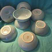 Russel Wright~ Iroquois Casual China~ Ice Blue Cereal / Soup Bowls