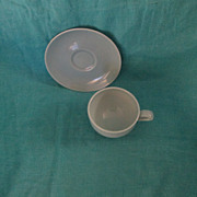 Russel Wright Iroquois Casual China Ice Blue Cup & Saucer Set