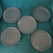 "Russel Wright Iroquois Casual China Ice Blue 6.50"" Bread Plate Mid Century Modern Design"