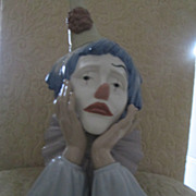 "Lladro Clown Head 13"" 1982-2001 Jose Puche #01005129"