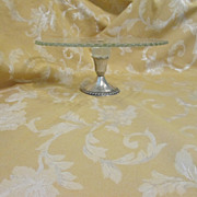 Sterling Silver Based Glass Cake Stand Duchin Creation 10-3/4""