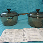 Visions Rangetop Cookware by Pyrex & Corning 1 Liter Lipped Saucepan