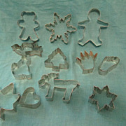 12 Metal Cookie Cutters ~ A Wonderful Assortment