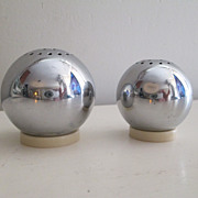 Chase Art Deco Era Chrome & Plastic Salt & Pepper Shakers 1930's