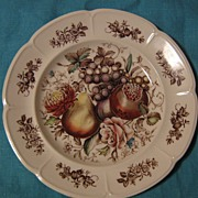 SALE Johnson Brothers Windsor Fruit Dinner Plate Ribbed Border