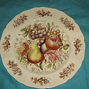 SALE Johnson Brothers Windsor Fruit Dinner Plate Swirl Border