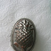 SALE 19th Century Pineapple Tin over Copper Food Mold~ A Kitchen Beauty!