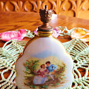 Exquisite Von Schierholz Germany Hand Painted Porcelain Scent Bottle