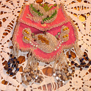 REDUCED Iroquois Beaded Purse Circa Early 1900's
