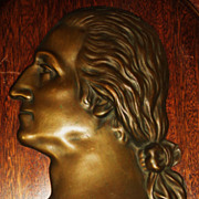 REDUCED Signed 19th Century Portrait Bronze Of George Washington