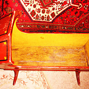 REDUCED Hooded Wooden Cradle With Original Paint - New England - 19th Century- GREATLY REDUCED