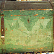 REDUCED 19th Century Pennsylvania Painted Chest -Original Green Paint - GREATLY REDUCED !!!