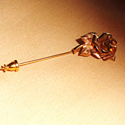 REDUCED Winard Vintage Rose Stick Pin 14K Gold Filled