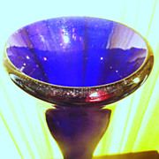 REDUCED Hand Blown Cobalt Blue Unusual Antique Vase - GREATLY REDUCED!