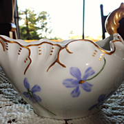 Pretty Antique Hand Painted Limoges Violets Creamer - Charles Field Haviland,Gerard, Duffraiss