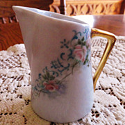 Beautifully Hand Painted Porcelain Creamer - Signed By Artist - 19th Century
