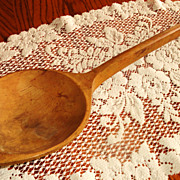 SOLD Late 18th Century - Early 19th Century Large Wooden (Treen) Spoon/Ladel - Red Tag Sale It