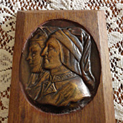 REDUCED Antique European Bronze Wall  Plaque - Dante E. Beatrice - GREATLY REDUCED HALF PRICE!