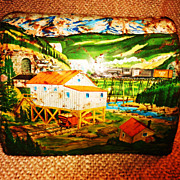 Vintage Marx Tin Train Erie Railroad Mountain Tunnel - Circa 1950's