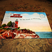 Souvenir Of Upper Michigan Post Card Pack - Circa 1940's