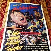 Authentic 1982 ROLLING STONES  Movie Poster - Let's Spend The Night Together