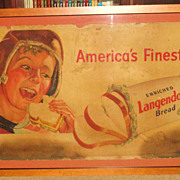 REDUCED 1930's Langendorf Bread - Advertising/Sports Piece