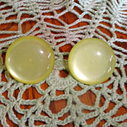 Vintage Luminous Lemon Yellow Earrings