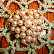 Vintage Sweet  Heart Brooch H.G. 1/20 12 K.G.F.