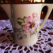 Delightful Uno Favorite Bavaria Hand Painted Creamer - Signed
