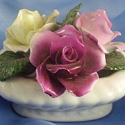 English Staffordshire Bone China Roses Arrangement