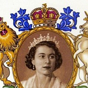 SOLD English Royalty ~ Queen Elizabeth II Coronation 1953 Commemorative Plate  ~ Royal Falcon