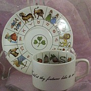 SOLD Would'st Thy Fortune Like to See? Taltos Fortune Telling Teacup ~ Jon Anton ~ England
