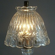 "SOLD Princess House ""Heritage"" Crystal Romance Lamp - Made West Germany"