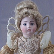 SOLD Designer Louis Nichole Jumeau-Style Porcelain Angel Doll ~ with  Wings & Tea-Stained Gown