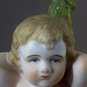 SALE Vintage Ardalt Lenwile Bisque Cherub Putti Figurine with  Basket Roses