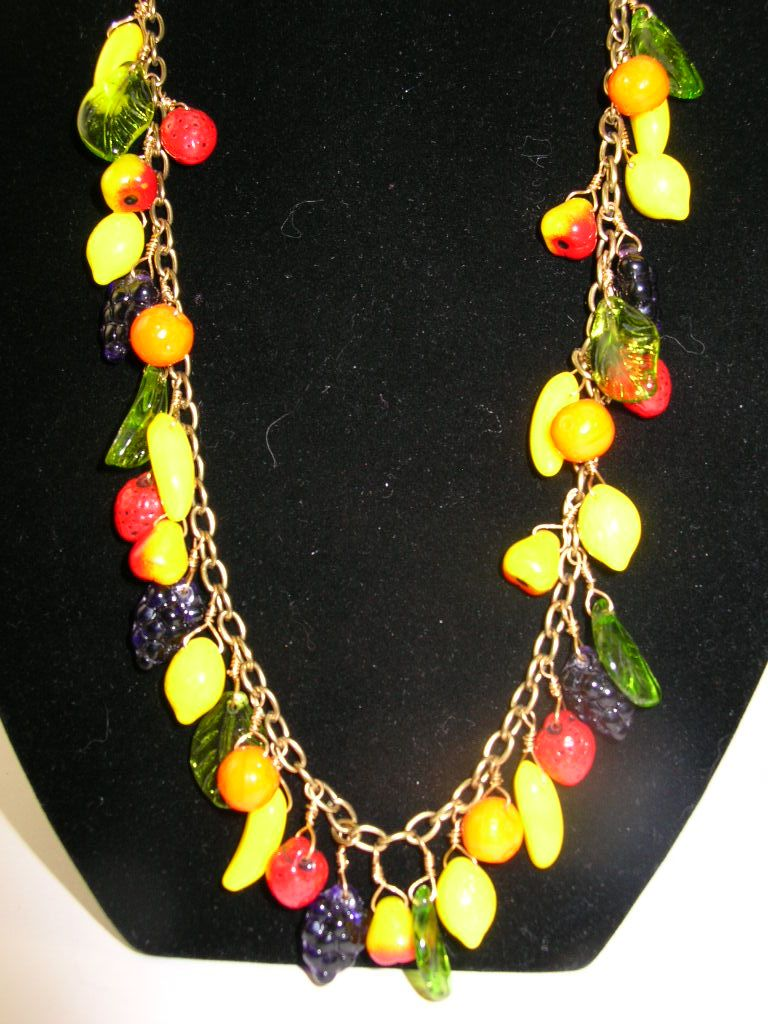Carmen Miranda Fruit Necklace and Earrings