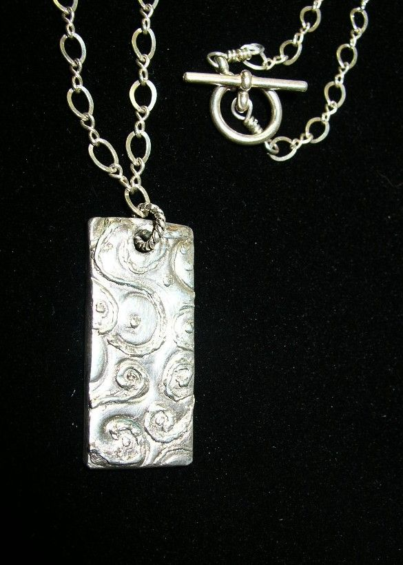 Silver Swirly Pendant