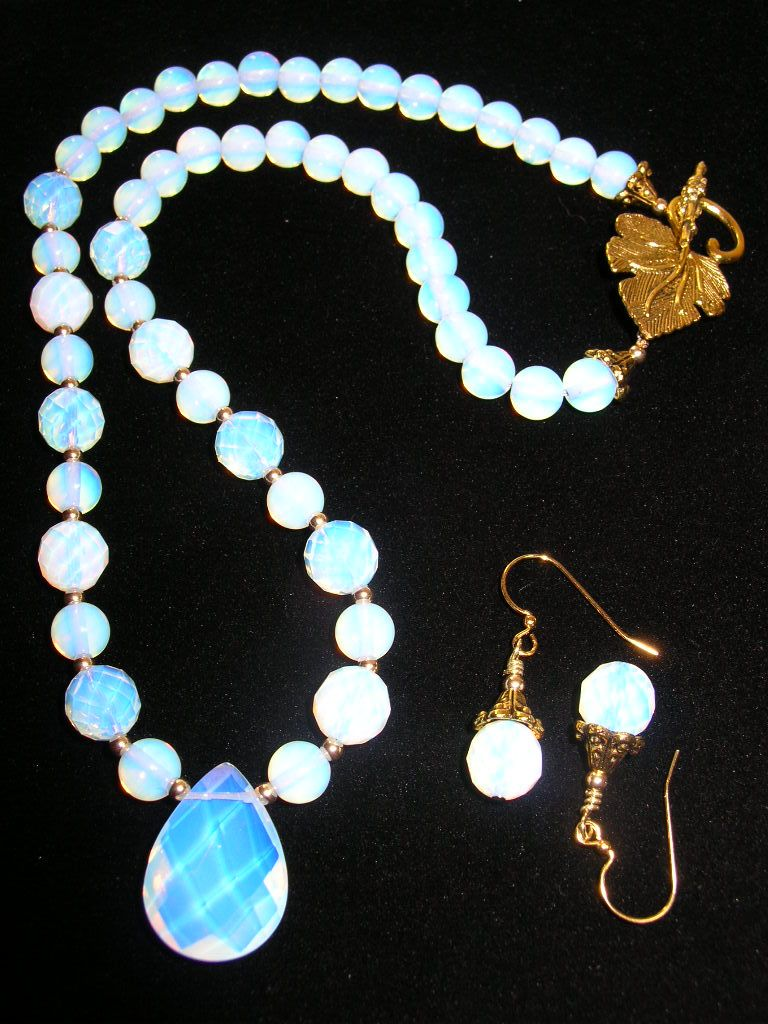 Opalite Necklace and Earring Set