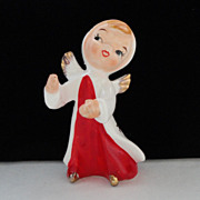 Christmas Angel Candle Hugger/Climber ~ Ceramic ~ Japan