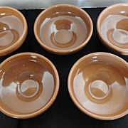 RUSSEL WRIGHT Iroquois Restyled Fruit /Dessert  Bowls ~  Apricot ~ Set of 5