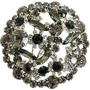Juliana Grey Navette and Marquis Rhinestone Pin