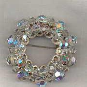 Crystal Beaded Circle Pin