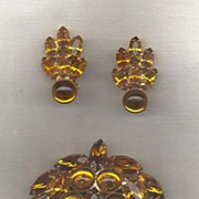 High Domed Cab Topaz Demi- Parure